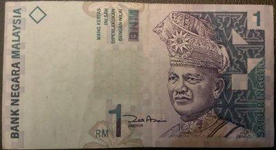 MALAYSIA 馬來西亞 1元 1 RINGGIT 令吉 舊版 紙鈔1張