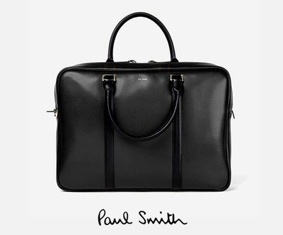 Paul Smith ► (黑色) 真皮手提包 肩背包 公事包  100%全新正品 特價!