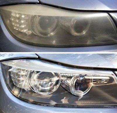 大燈快潔現場施工 BMW 寶馬 F10 F11 原廠車大燈泛黃霧化拋光修復翻新處理