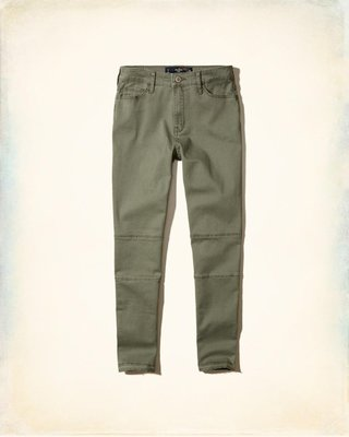 《Cupio》現貨 Hollister High-Rise Crop Super Skinny 高腰窄管牛仔褲(1R)