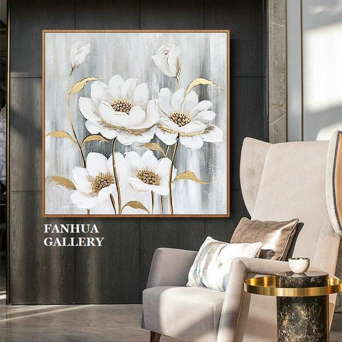 C - R - A - Z - Y - T - O - W - N 純手繪立體油畫植物花卉金色裝飾畫玉蘭花掛畫油畫藝術畫立體筆觸油畫原創抽象巨幅裝飾畫書房裝飾畫