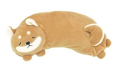 日本進口nemu nemu 柴犬造型暖暖包 重複使用式溫感眼罩*暖暖包 絨布溫熱眼罩 療癒系 現貨