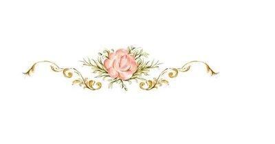 小妮子的家@手繪系列水移畫/古典玫瑰轉印貼紙/家具貼/瓷磚貼/玻璃貼~3458.1