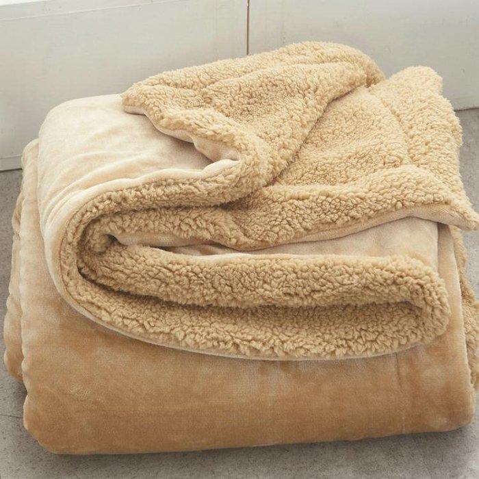 小毛毯被子雙層加厚保暖單人蓋腿午睡男女學生宿舍冬季珊瑚絨毯子