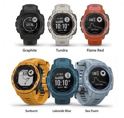 Garmin Instinct Smart watch,本我系列GPS智能手錶(英文版),耐熱耐寒、耐撞抗蝕、防水等級達水下100公尺,心率追蹤,電池效能強勁!