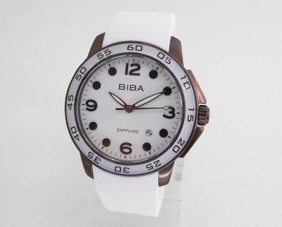 【 幸福媽咪 】網路購物、門市服務 BIBA 碧寶錶《藍寶石防刮鏡面》 咖啡色 日期石英錶 B72TA034T