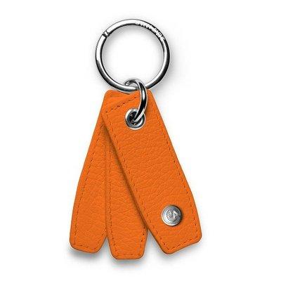 CARAN d'ACHE 瑞士卡達 橘色小牛皮鑰匙圈