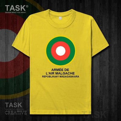 TASK 馬達加斯加空軍短袖T恤男女夏裝Madagascar軍迷衣服戶外半袖