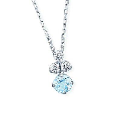 @ misaki*の日本Jewelry純代購【日本網路飾品】「幸福の石」【天然緑柱石】 10K白K金項鍊 【東京本店】