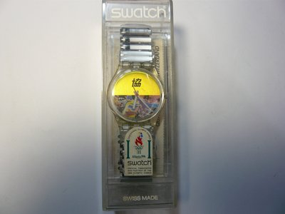 1996 Olympic Games奧林匹克 會 SWATCH 錶   只更換電池