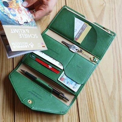 ♀高麗妹♀韓國 PLEPIC TRIPPING WALLET 信封造型 護照夾/機票.卡片皮革收納夾/錢包(現貨)