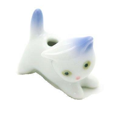 【新月集】日本有田燒 動物風 - 貓咪香立