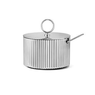 Luxury Life【正品公司貨】丹麥 Georg Jensen 喬治傑生 瑞典王子系列 不鏽鋼 糖皿與匙 套組