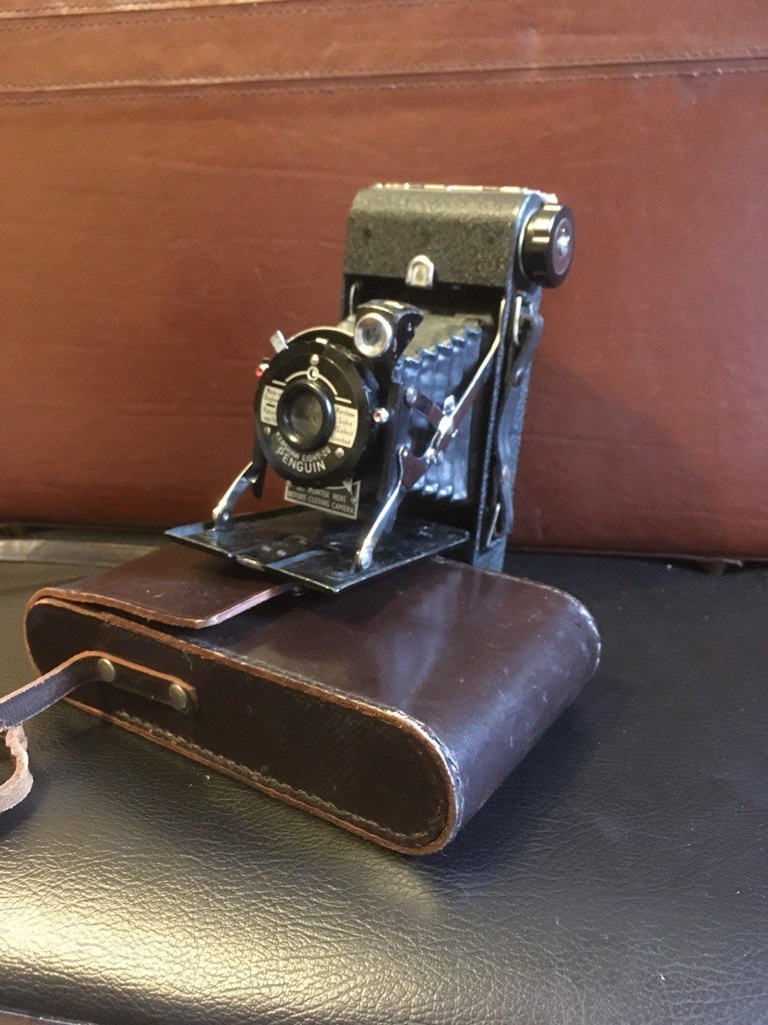 英國製相機 1950年Kershaw Eight-20 Penguin蛇腹相機    古董  相機 裝飾品 收藏品 擺飾