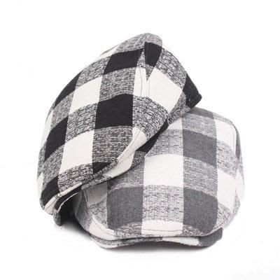 貝雷 帽 鴨舌帽-格子戶外休閒棉質男女帽子3色73tv218[獨家進口][米蘭精品]