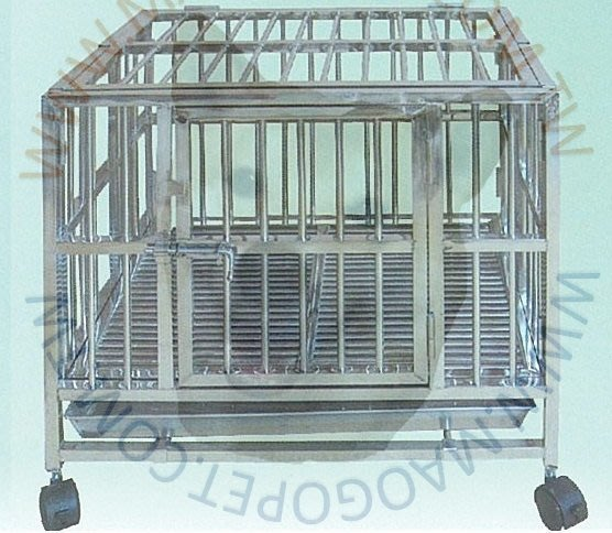 2.5台尺 折合式白鐵摺疊籠 S203不銹鋼圍片籠 掀頂不鏽鋼管籠 狗籠 2.5X2尺(DK-0814)每件6,600元