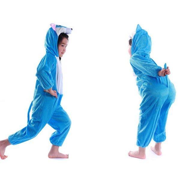 5Cgo【鴿樓】會員有優惠 24652800716 兒童表演服裝 演出卡通 動物服裝 動漫藍貓服裝 居家服 睡衣