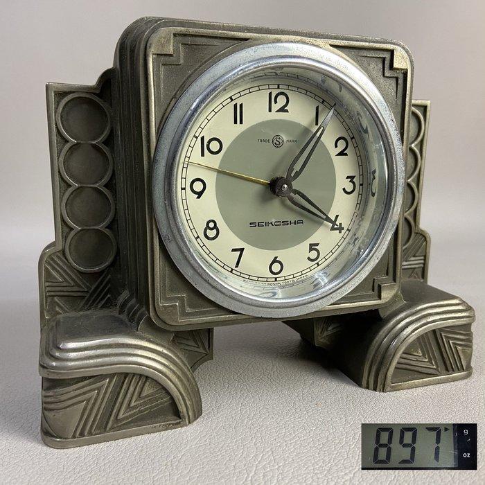 【古玩輕鬆拍】老日本 TRADE MARK 鑄銅機械鐘/發條鐘/鬧鐘1入※2012090929843D※1元起標 無底價