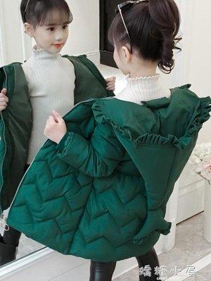 女童棉衣新款韓版洋氣中小童冬裝加厚外套中長款棉襖女孩棉服