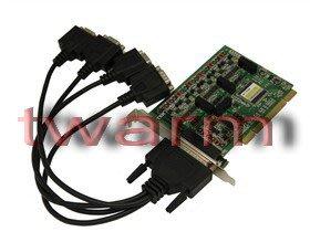 德源科技 r)UT-724I,4口 RS485/422 工業級 光電隔離型PCI轉換卡
