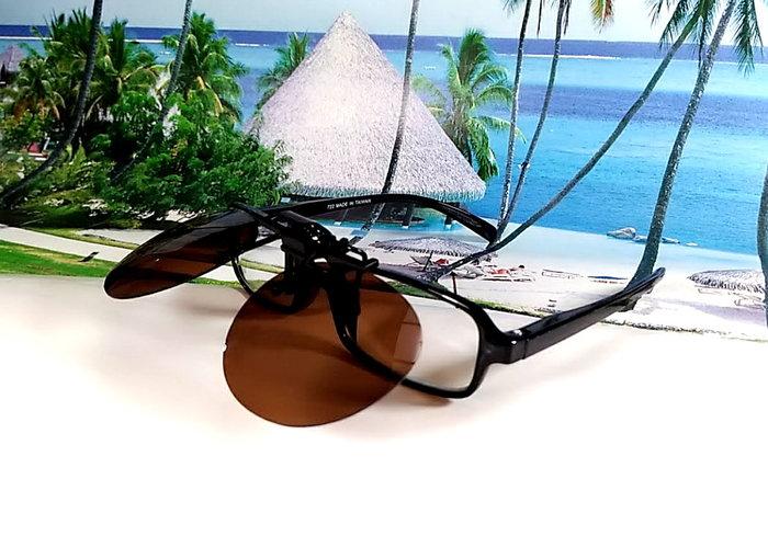 天王星 偏光太陽眼鏡夾片 中型圓款 47MM 掛式太陽眼鏡 輕巧 偏光夾片/ 夾式太陽眼鏡 今夏必備 開車 休閒必備