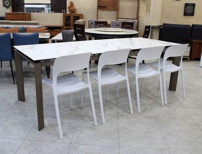 【歐風別館】約克北歐風白色餐椅【另有黑色~可堆疊~義大利進口陶板伸縮餐桌】【全館滿萬享24期0利率】
