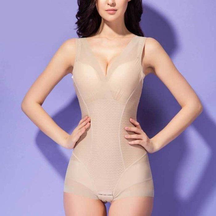 塑身衣女 束腹褲 女士收腹塑身連體衣薄款無痕透氣提臀束腰瘦身產後保養美體衣yf1267