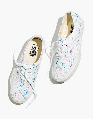 Madewell x Vans® Unisex Authentic Lace-Up Sneakers in Tie-Dy