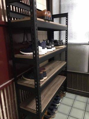 «台中慶樺角鋼» B-2黑色免用螺絲角鋼 @ DIY組合架、萬能角鋼、置物架、倉儲架、工作臺、陳列櫃
