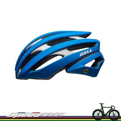 【速度公園】Bell 美國品牌 Stratus MIPS頂級自行車安全帽 公路車 登山車 單速車 安全帽 消光藍/白-L
