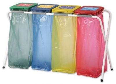 四分類資源回收架/分類架/垃圾桶/垃圾袋架/塑膠袋架/X架/四分類/環保垃圾桶 /X型架/4分類