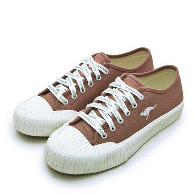利卡夢鞋園–KangaROOS 帆布厚底餅乾鞋--CRUST藍標系列--梅紅--91272--女