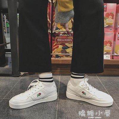 港味板鞋女夏刺繡韓版ulzzang原宿百搭街拍學生運動鞋復古小白鞋