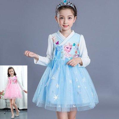 現貨  女童 冰雪公主中國風網紗洋裝18MM200802
