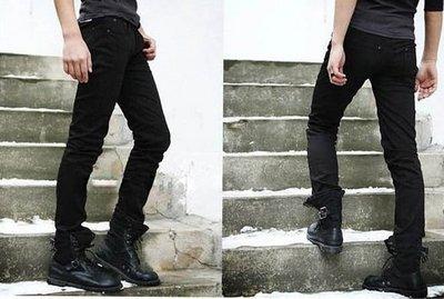 韓國 合身 鉛筆褲 小腳褲  合身版型 彈性牛仔 男