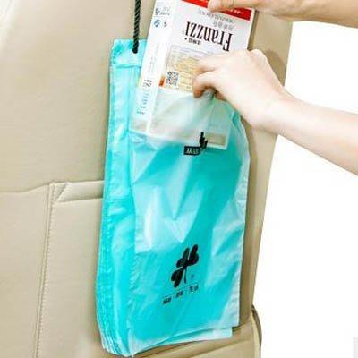 【車載垃圾袋-18*34.5CM-50只/包-2包/組】創意垃圾袋可粘貼繩掛式防水可封口環保-7670603