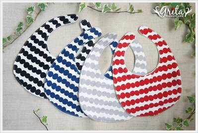 ♥gritas handmade♥純棉手作嬰幼兒圍兜兜/領巾/口水巾/三角巾/彌月禮—北歐風點點單色