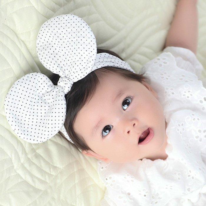 ☆草莓花園☆B56女童嬰兒可愛波點髮帶 百天照頭飾 嬰兒髮帶 髮冠 皇冠 造型周歲照 藝術照