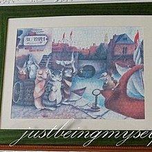 wachifield-dayan(瓦奇菲爾德,達洋)~貓咪拼圖錶框成品~港口