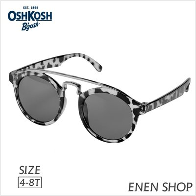 『Enen Shop』@OshKosh Bgosh 灰色玳瑁款太陽眼鏡/墨鏡 #OK02175|4T-8T