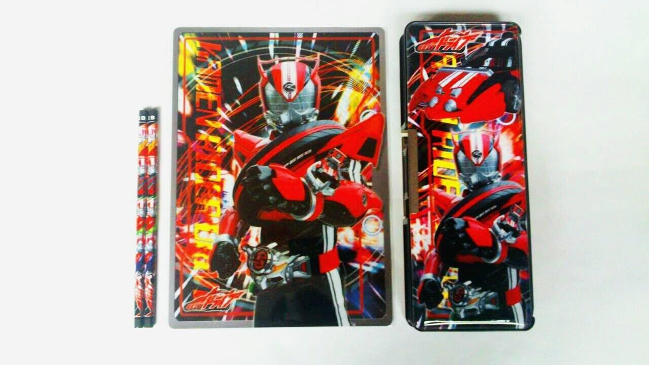 【胖兔兒精選】日本製 假面騎士 假面Drive 雙面磁扣鉛筆盒 墊板 鉛筆 開學 文具組三件組 禮物 超值特價