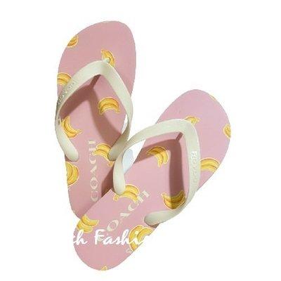 【就愛精品店】 COACH G3437 粉色花朵夾腳拖鞋-7M~8M【$1480】
