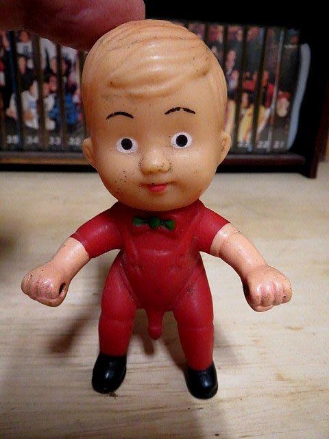【 金王記拍寶網 】Z261   60年代 早期  孩童三輪車 小男孩  (正老品) 古董級 罕見稀少珍貴
