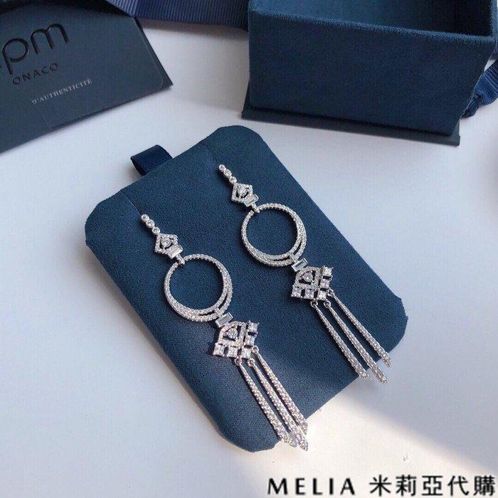 Melia 米莉亞代購 商城特價 數量有限 0812 APM MONACO 飾品 耳環 魔法長款耳環 流蘇耳釘 大氣銀白