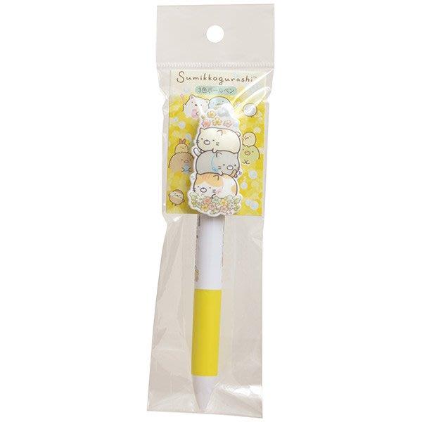 三色筆--日本正版SAN-X角落生物貓咪三色筆/原子筆--秘密花園