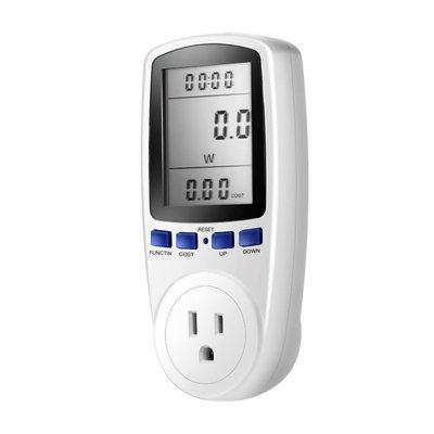 【L204功率計】測電流 測電壓 測功率 電流表 美規插座 電量計量插座 電力監測儀 精準測量 艾比讚