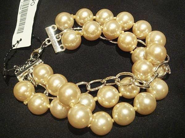 美國帶回,全新從未戴過 H&M 高質感珠珠造型手環,低價起標無底價!本商品免運費!