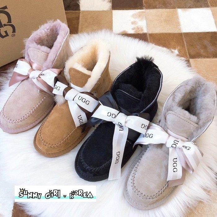 雪靴*Sunny Girl*澳洲UGG同廠真皮Kallen系列款綁帶羊毛短筒靴 2020一月新款 - [WH1447]