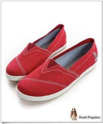 ↘47折 Hush Puppies 基本款 咖啡紗懶人鞋休閒鞋 紅色 toms(鞋全家樂)