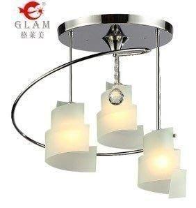 {美學}簡約 多彩烤彎燈罩 3頭吸頂燈 餐廳客廳燈具MX-2135